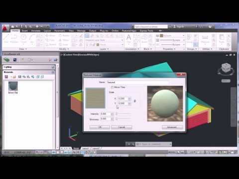Using Materials in nXtRender for AutoCAD