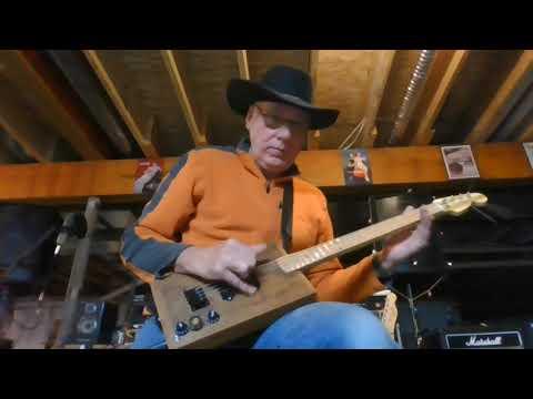 Demo Jam on guitar and bass combo cigar box guitar