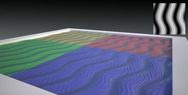 Sine texture displacement map