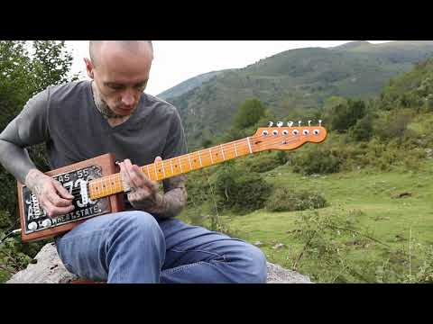 Gary O'Slide - Rolling blues - Cigar box guitar licence plate