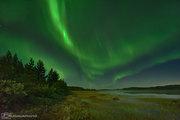 Säsongens första norrsken 28 aug -21 Malmesjaure strax före midnatt