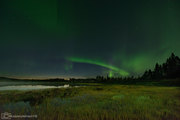 Säsongens första norrsken 28 aug -21 Malmesjaure strax efter midnatt