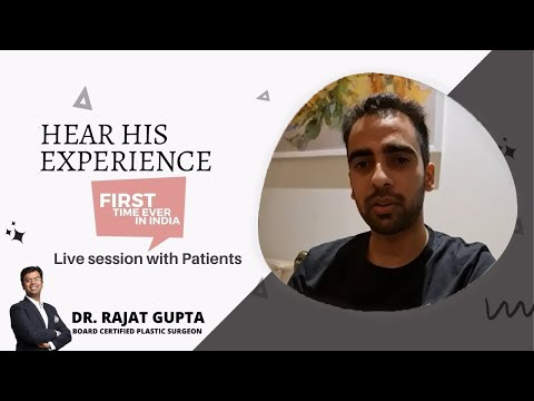 Instagram Live With Mr Himanshu | Chin Augmentation Surgery | Patient review | Dr Rajat Gupta