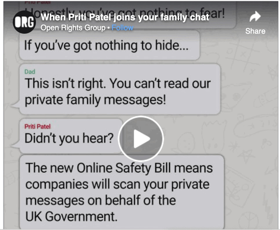 When Priti Patel joins your family chat