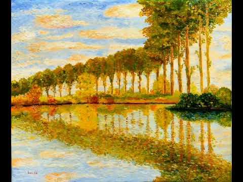 """""""Les peupliers du lac"""", une oeuvre de Vignal Jean-Claude dit Ben-Kâ, avec musique de Ravel"""