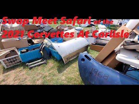 Swap Meet Safari At the 2021 Corvettes At Carlisle ( Corvette swap meet )