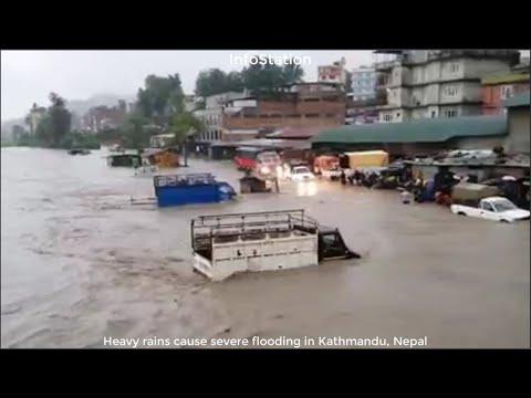 Heavy rains cause severe flooding in Kathmandu, Nepal, September 6,2021