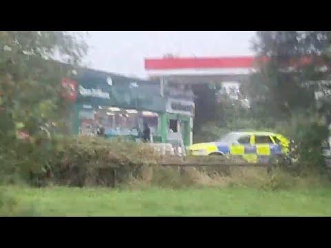 Major incident  At a Bristol Petrol Station Armed  Police