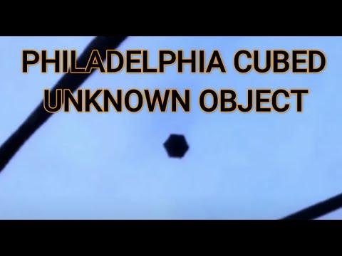 Black Cube Shaped Object over Philadelphia on 08/11/2021