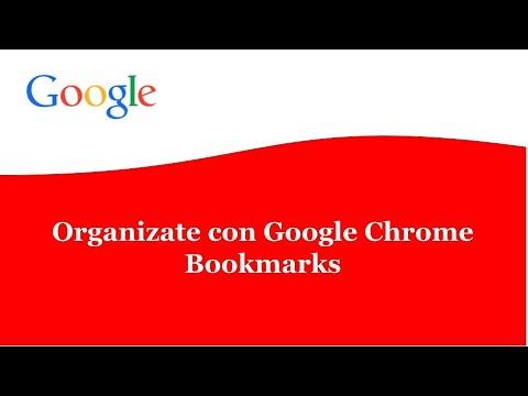 Organízate con Google Chrome Bookmarks para una pantalla minimalista