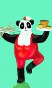 Yoga du panda cuisinière