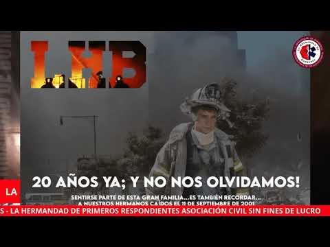 TRANSMISION EN VIVO DE LA HERMANDAD DE BOMBEROS EN CONMEMORACIÓN POR EL 20 ANIVERSARIO DEL 11 DE SEPTIEMBRE