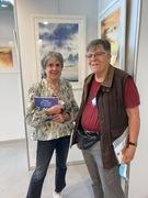 Très belle rencontre avec l'aquarelliste Claude Carretta à La Boverie à Liège ( c'est lui qui illustre la couverture de mon récit LES AILES BATTANTES, sortie début décembre )
