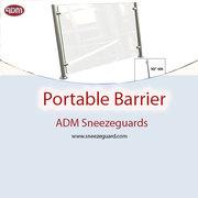 Portable Barrier | ADM Sneezeguards | Food Guards