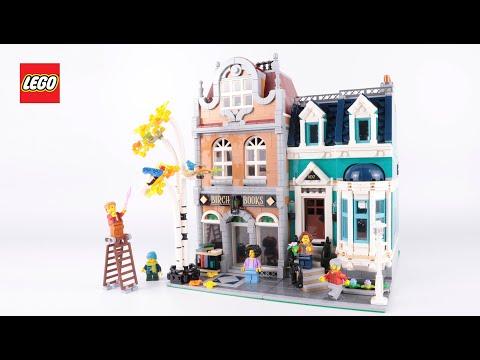 LEGO Bookshop 10270 Stop Motion Speed Build Review (modular building 2020)