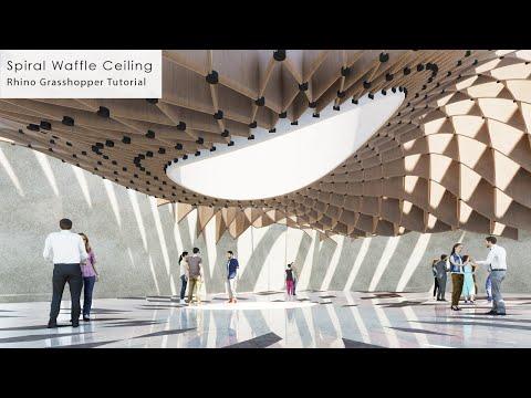 Spiral Waffle Ceiling Rhino Grasshopper Tutorial