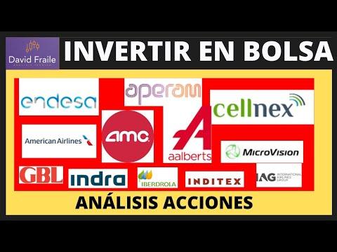 Invertir en Bolsa, Acciones Cellnex, Endesa, Aperam, AMC Entertainment, American Airlines y más