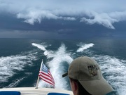 1970 Sports Cruiser Outrunning the Storm Lake Huron 2