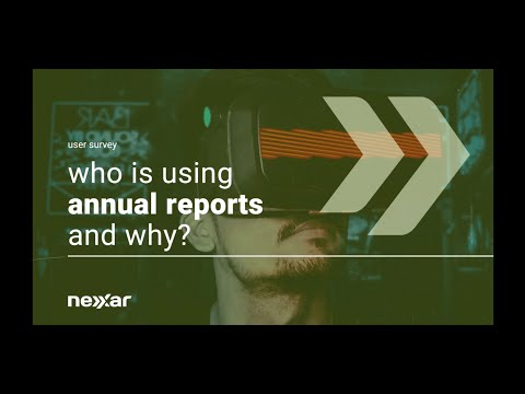 Who is using annual reports and why?