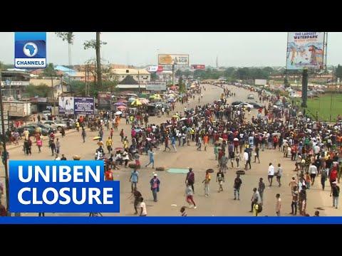 Epic: UNIBEN Students Protest Against Campus Closure