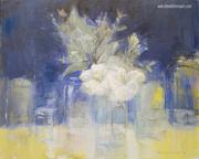 Jars & White Flowers