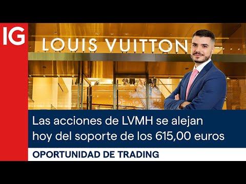 Las acciones de Louis Vuitton se alejan hoy del soporte de los 615,00 euros
