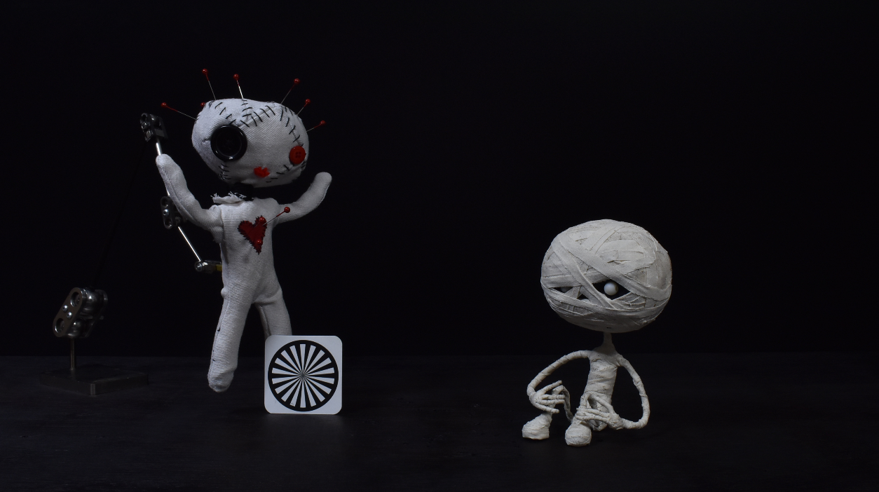 Voodoo Girl and Mummy Boy