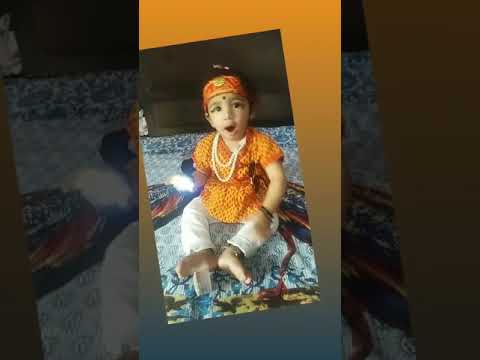 Masti in Kanha Dress | Kanhiya little baby boy | Baby boy with Kanha
