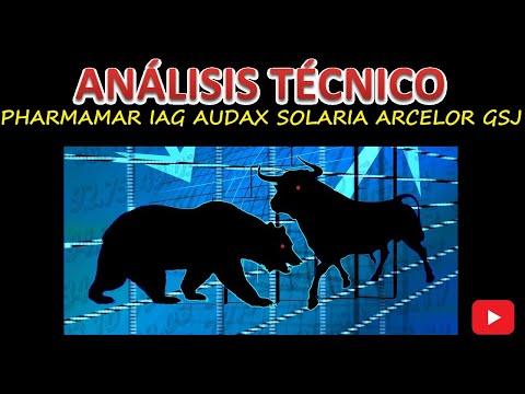 Análisis Técnico PHARMAMAR, IAG, AUDAX, ARCELORMITTAL, SOLARIA, GRUPO SAN JOSÉ