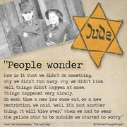 Those who don't learn from history will repeat it,this time it's the jews doing it