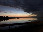 Sun rise on causeway