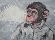mach Dich nicht zum Affen II 2021 Acryl auf Leinwand 30x40
