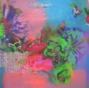 Flowerpower III 2021 Acryl auf Leinwand 50x50x4