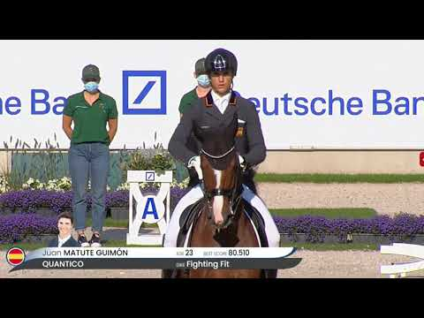 The Comeback Kid! Juan Matute Is On Top Of The World In The Grand Prix Dressage Freestyle In Aachen