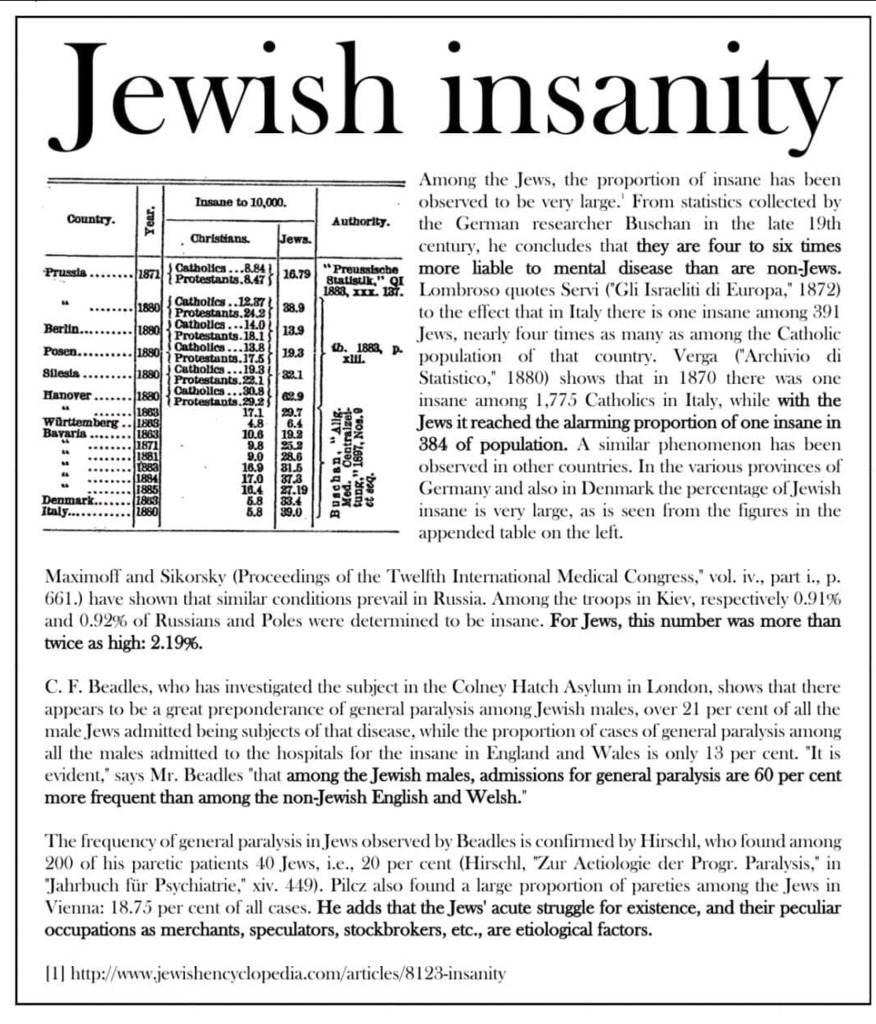 Jew Insanity