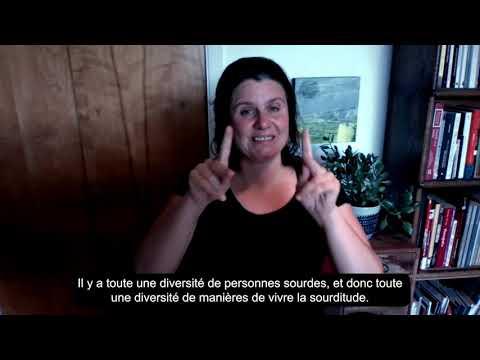 Entrevue avec Véronique Leduc au sujet de la sourditude