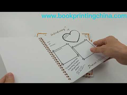 Custom Wire O Bound Book Printing Note Book Printing With Best Price In China