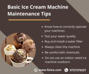 Basic Ice Cream Machine Maintenance Tips