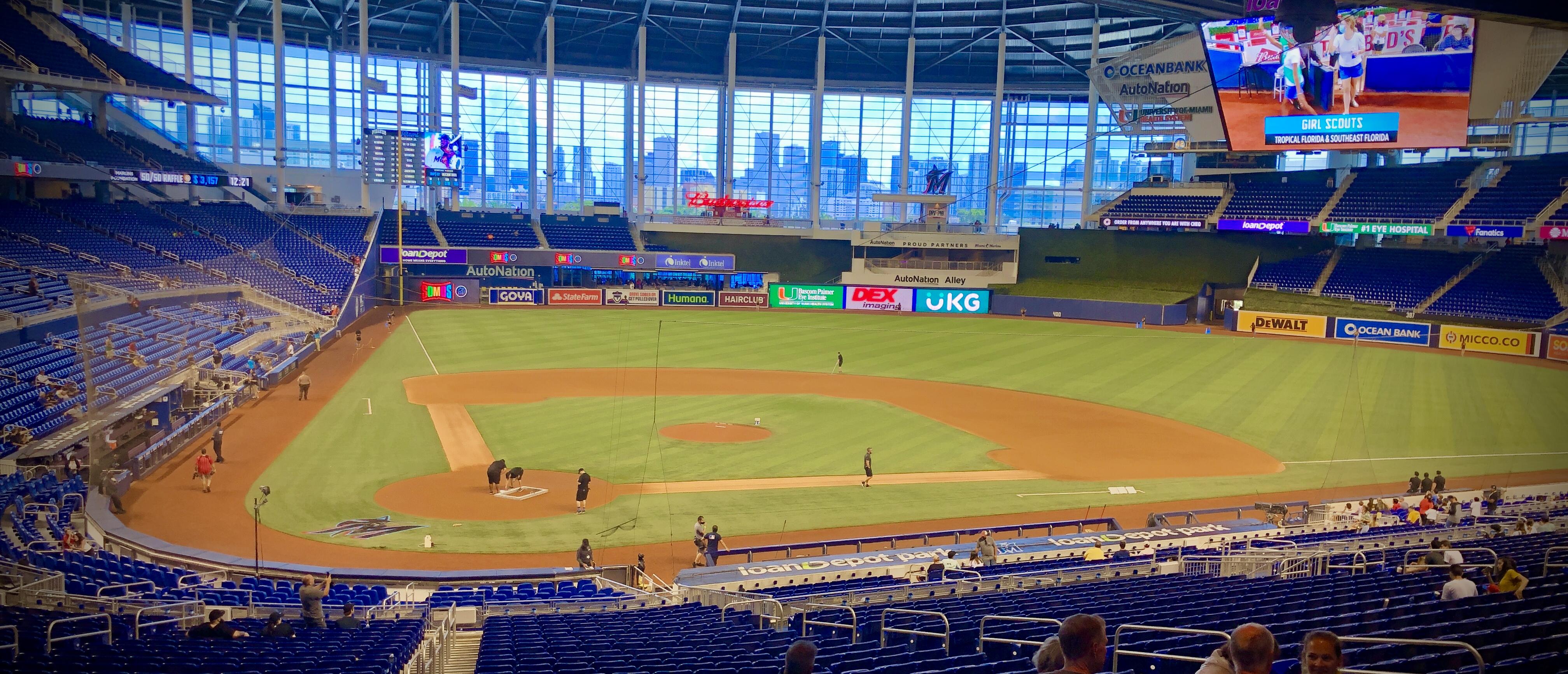 Loan Depot Park Inside  - Miami Marlins