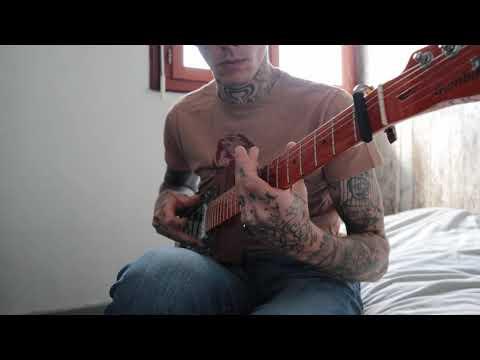 Gary O'Slide - Relaxing song cigar box guitar licence plate.