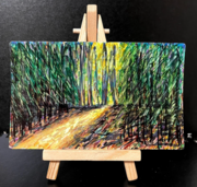 """""""Forest at Dusk"""" - Marker and alcohol - rSmith 2021"""