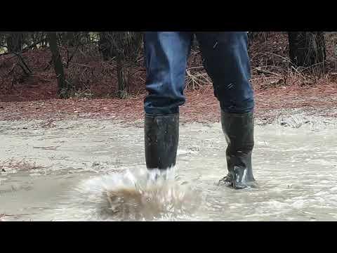Splashing in the mud with Nora Anton wellies