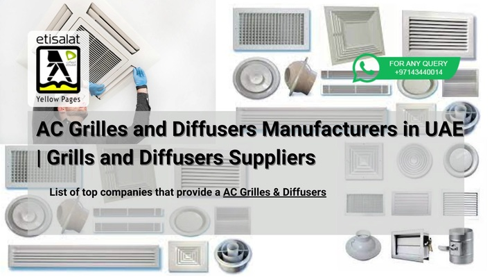 AC Grilles and Diffusers Manufacturers in UAE  Grills and Diffusers Suppliers