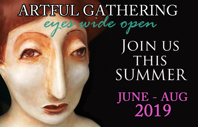 Artful Gathering Online Art Retreats Logo