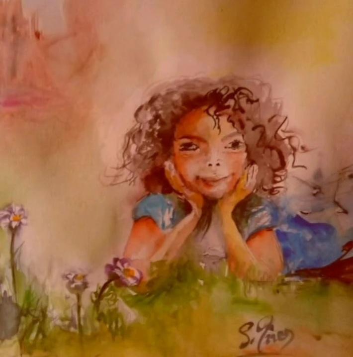 Petite Morgane va aimer la vie - (sur une oeuvre de Sylviane Joséphine Tirez