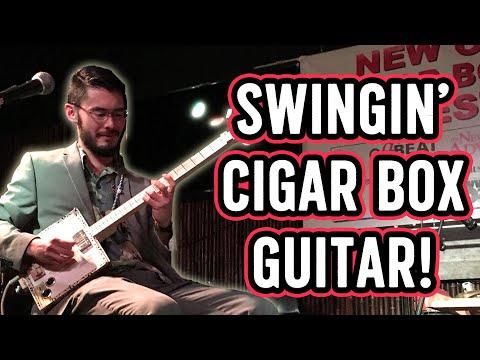 """Django's Tiger"" SWING on CIGAR BOX GUITAR"