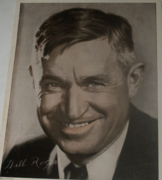 Will Rogers Sr. Printed autograph
