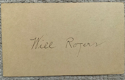 Will Rogers Sr. 1932 Signed Postcard