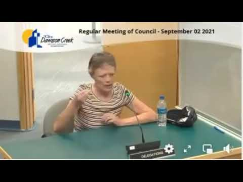 BOOM! And DOUBLE BOOM! Molecular Biologist Speaks At Dawson Creek City Council Meeting. WoW!