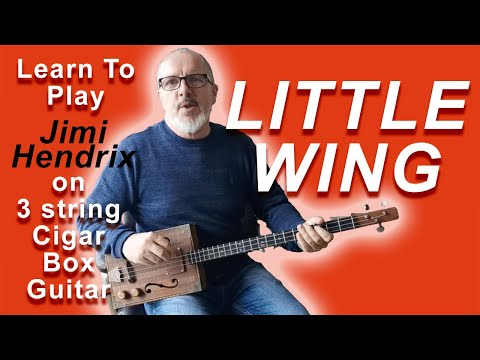 How To Play Jimi Hendrix Little Wing On 3 String Cigar Box Guitar (with Boss RC1 Looper)